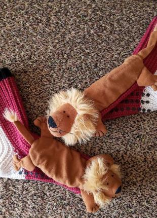 Теплые вязанные домашние носочки