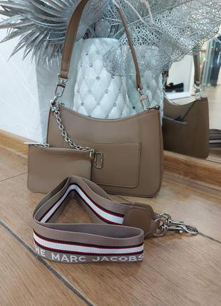 Жіноча брендова сумка jacobs в кольорах коричневий