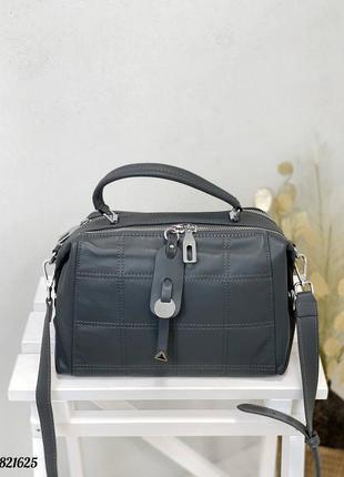 Кожаная сумка чемоданчик, сумка бочонок натуральная кожа