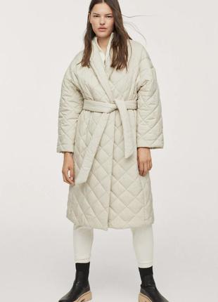 Куртка пальто стеганая пуховик mango оригинал