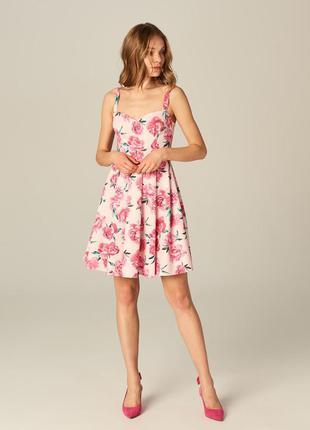 Платье хлопок в цветочек (цветочный принт) mohito 36 размер (s)
