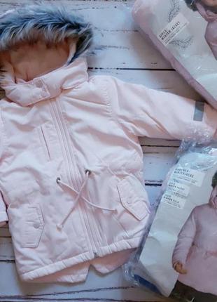 Куртка-парка нежно розовая демисезонная размер 92 lupilu еврозима