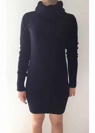 Платье, черное платье, теплое черное платье, сукня чорна під горло, зимнее платье toffy.
