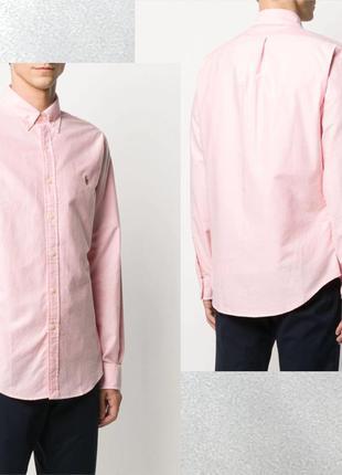 Polo ralph lauren рубашка розового цвета в идеальном состоянии!