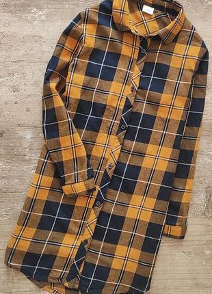 Удлененная рубашка для девочки