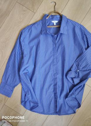Трендовая блуза рубашка ботальнная 58-62