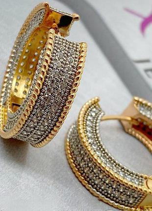 Популярные серьги кольца xuping. медицинское золото