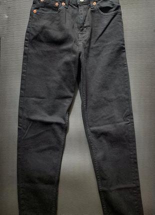 Джинсы slim mom, джинси висока талія жіночі базові mango