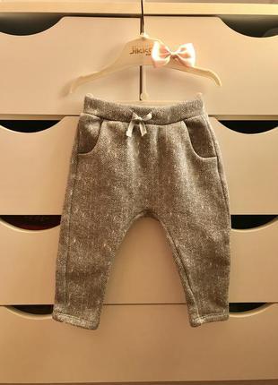 Стильные модные тёплые штаны/брюки zara для девочки