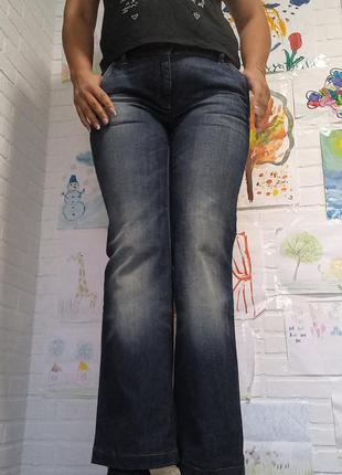 Штаны джинсы клёш суперстрейч