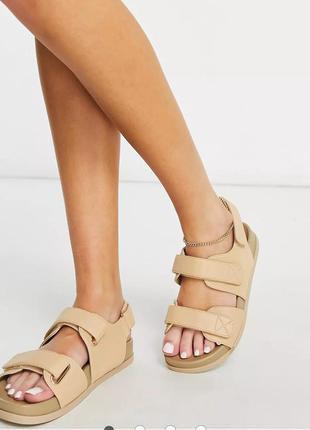 Бежевые сандалии asos design