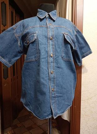 Рубашка ,джинс,р. 50 - 52, ц. 155 гр