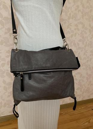 Кожаная сумка через плечо genuine leather