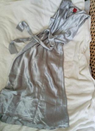 Платье шелк серое