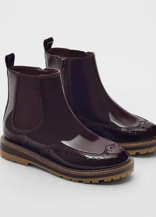 Новые демисезонные сапоги сапожки ботинки челси для девочки zara 36