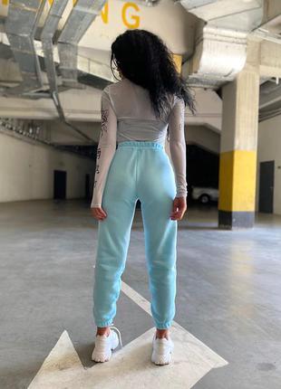 Штаны брюки базовые теплые, трехнить на флисе