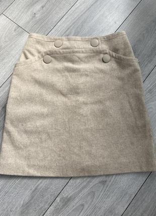 Шерстяная юбка-шорты