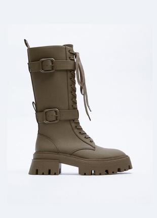 Стильные ботинки сапоги ботильоны от zara оригинал новые 2021