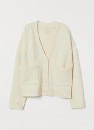 Кардиган свитер белый кардиган с карманами