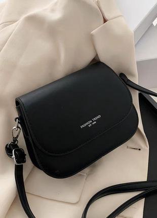 Небольшая сумка-клатч чёрная женская