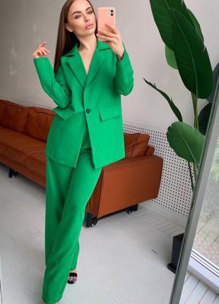 Стильный свободный элегантный классический костюм брюки+пиджак оверсайз