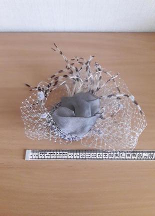 Шляпка вуалетка