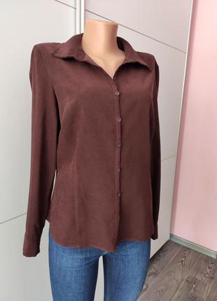 Рубашка коричневая замша dorothy perkins 14