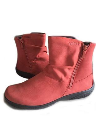 3195 ботинки hotter uk7,5/eu41 кожа_сост новых