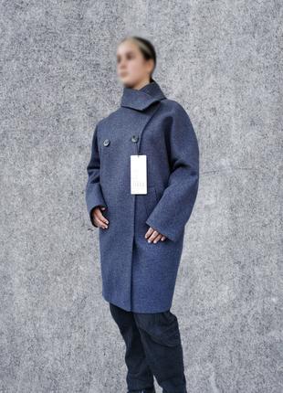 Женское демисезонное пальто кокон, стиль оверсайз, качество отличное,см.замеры в описании товара