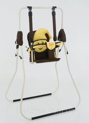"""Детские комнатные качели для новорожденных """"алинка"""" напольные кресло-качели каркасные для дома"""