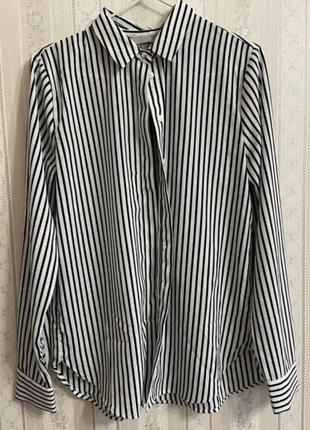 Рубашка в полоску блузка h&m