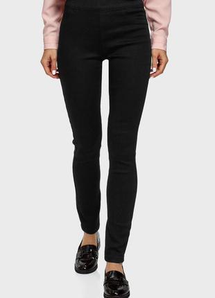 Черные джинсы скинни джеггинсы высокая посадка