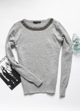 Классный свитер с украшением, в наличии в двух цветах