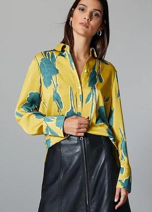 Рубашка с длинным рукавом с цветочным принтом