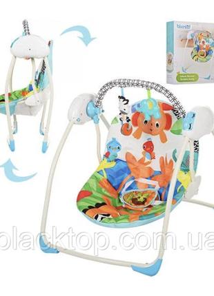 Детские музыкальные качели для новорожденных bambi m 3241 детский напольный шезлонг качели для малыш