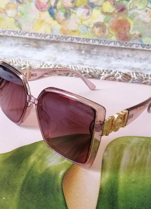Модные прозрачно розовые солнцезащитные женские очки квадраты