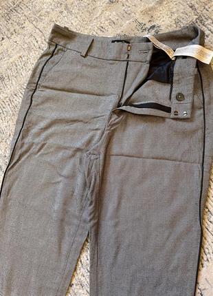 Massimo dutti брюки серый цвет длина 95 см по талии 36-37 см, посадка 32 см. по бёдрам 47 см