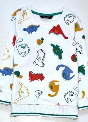 George яркий свитшот в принт динозавры. 3-4 года