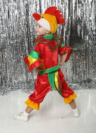 Новинка! яркий эффектный детский маскарадный костюм петушок петух