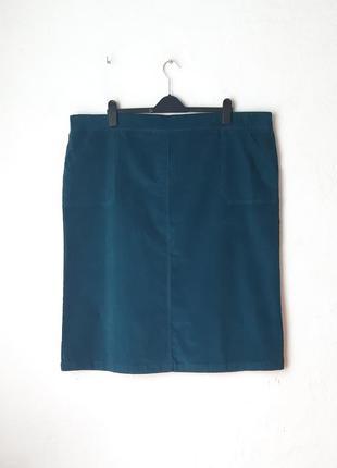 Стрейчевая вельветовая юбка