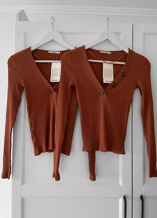 📎 кофта коричневая pull&bear