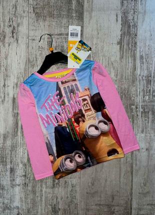 Лонгслив/футболка с длинным рукавом на девочку от disney размер на 4 годика рост 104см.
