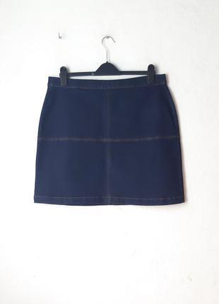 Стрейчевая джинсовая юбка