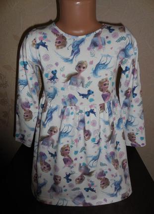 Платье h&m frozen котон, 4-5 лет