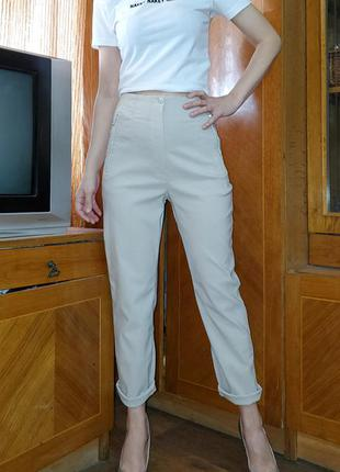 Бежевые винтажные брюки j&s collezione
