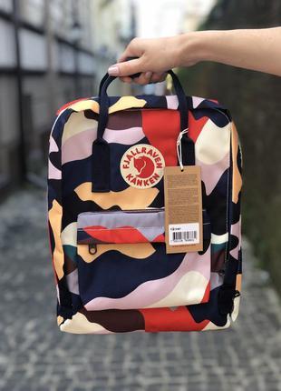 Распродажа! рюкзак канкен мини арт камуфляж женский мужской 7л - fjallraven kanken mini