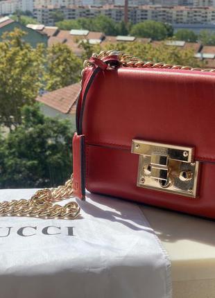 Красная сумка гуччи gucci
