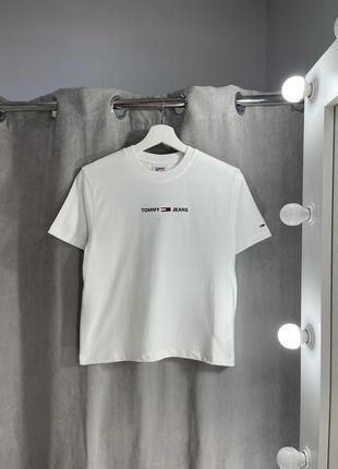 Идеальная женская белая футболка tommy hilfiger jeans новая с бирками оригина