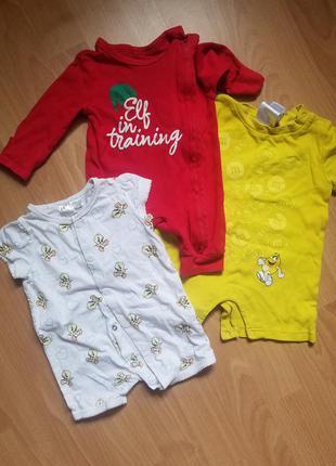 Дитячі речі лотом детская одежда 0-6 мес