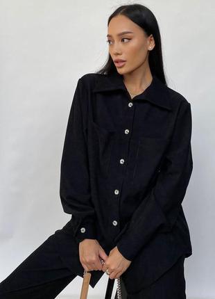 Прогулочный костюм инес черный jadone fashion